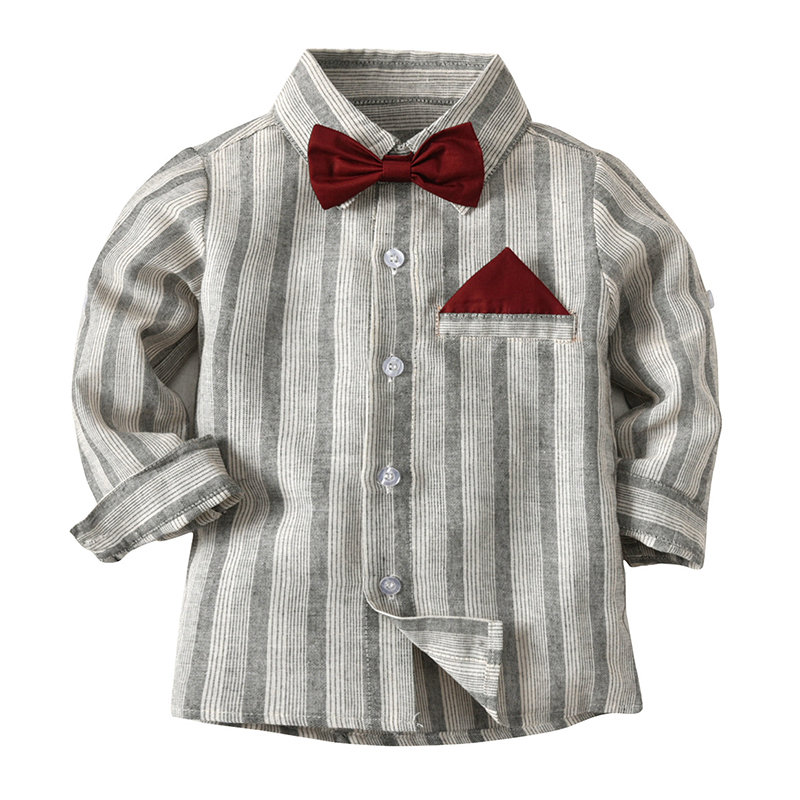 Toddlers Boys Kids Long-Sleeved Casual Formal Shirt Tops For 2Y-11Y