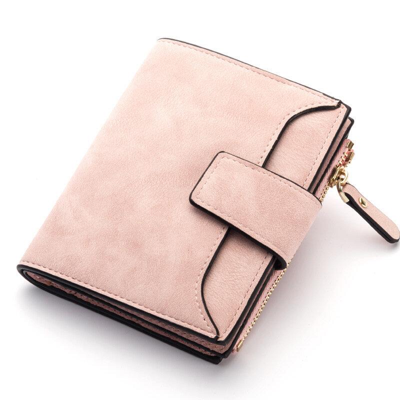 Женщины Стильный конфеты цвет Trifold небольшой кошелек карты держатель кошелек