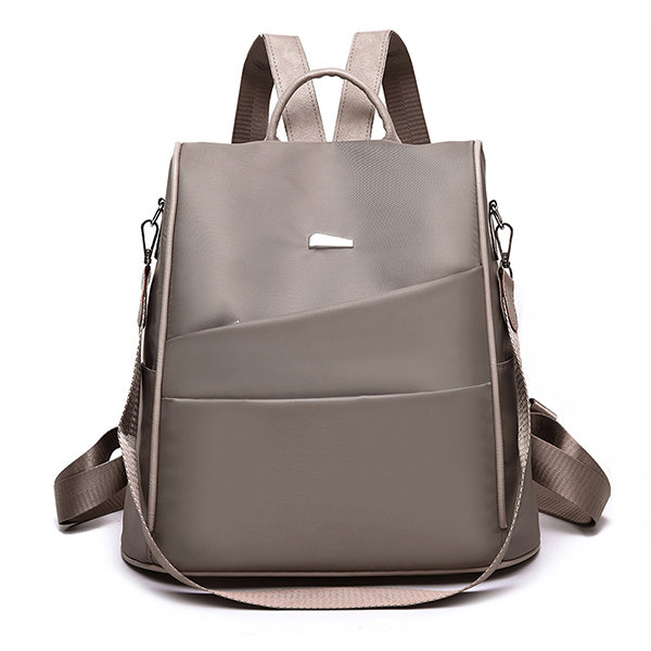 Women Anti-theft Backpack Purse Solid Multi-function Shoulder Bag