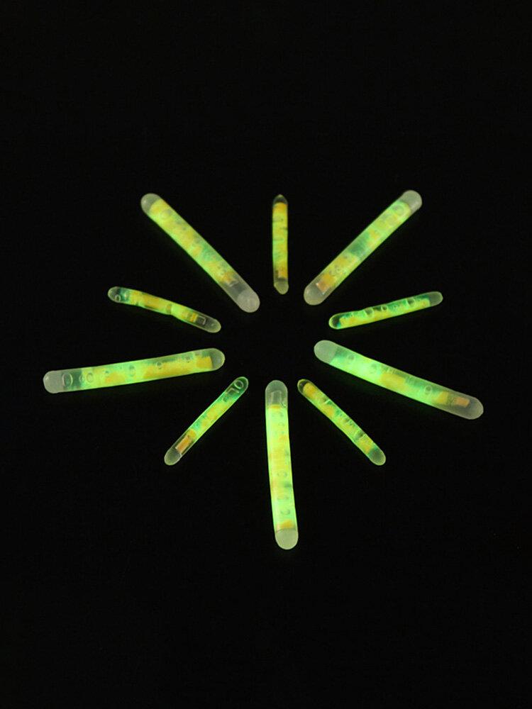 5/100X Fishing Fluorescent Lightstick Light Night Float Clip On Dark Glow Sticks