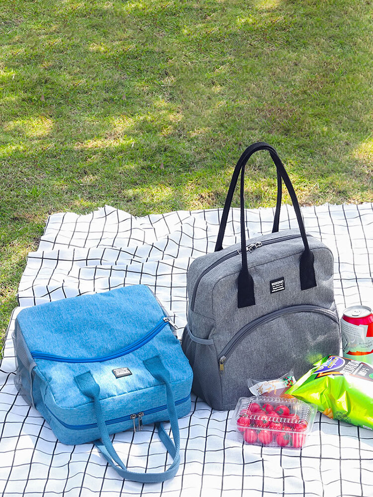 11L Large Capacity Lunch Bag Aluminum Foil Thickening Picnic Food Container Insulated Cooler Ice Bag