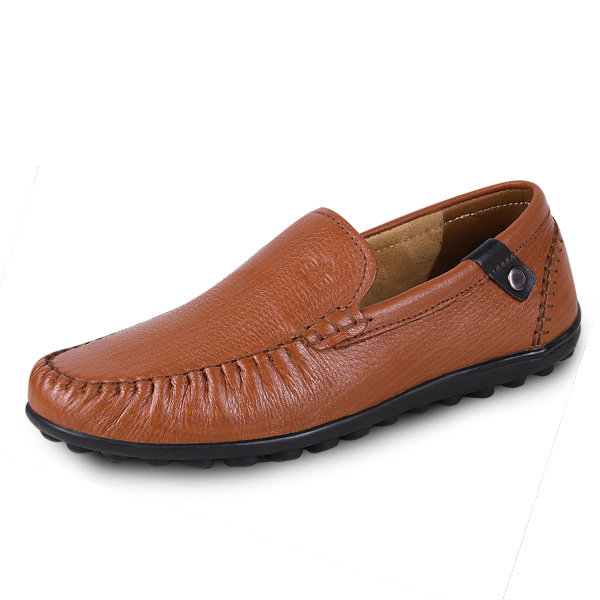 Big Size Men Leather Soft Sole Comfortable Slip On Business Shoes