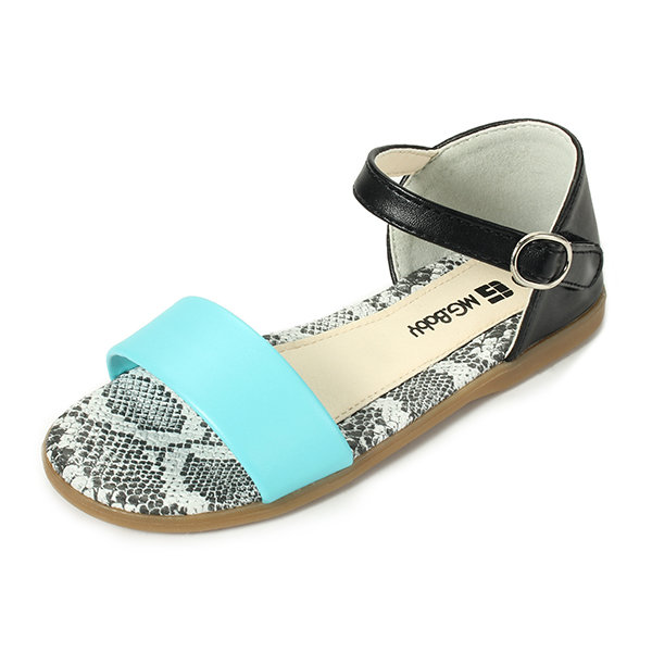Girls Fish Mouth Summer Sandals Candy Color Flats Beach Kids Causal Shoes