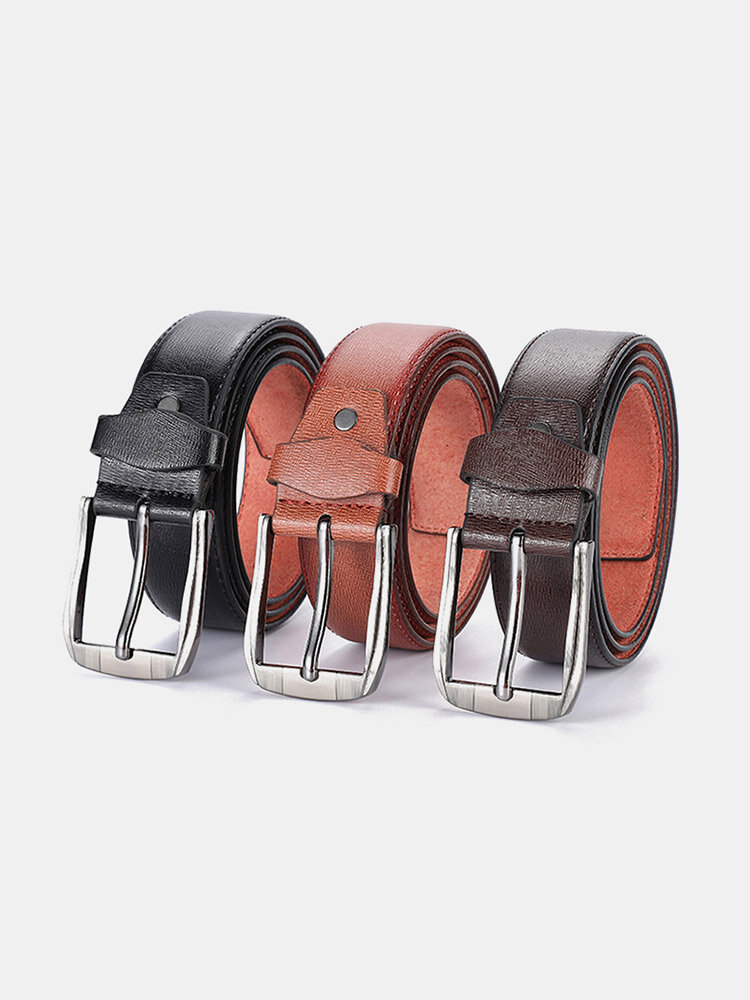 Men Faux Leather Belt Casual Fashion Business All-match Leather Belt