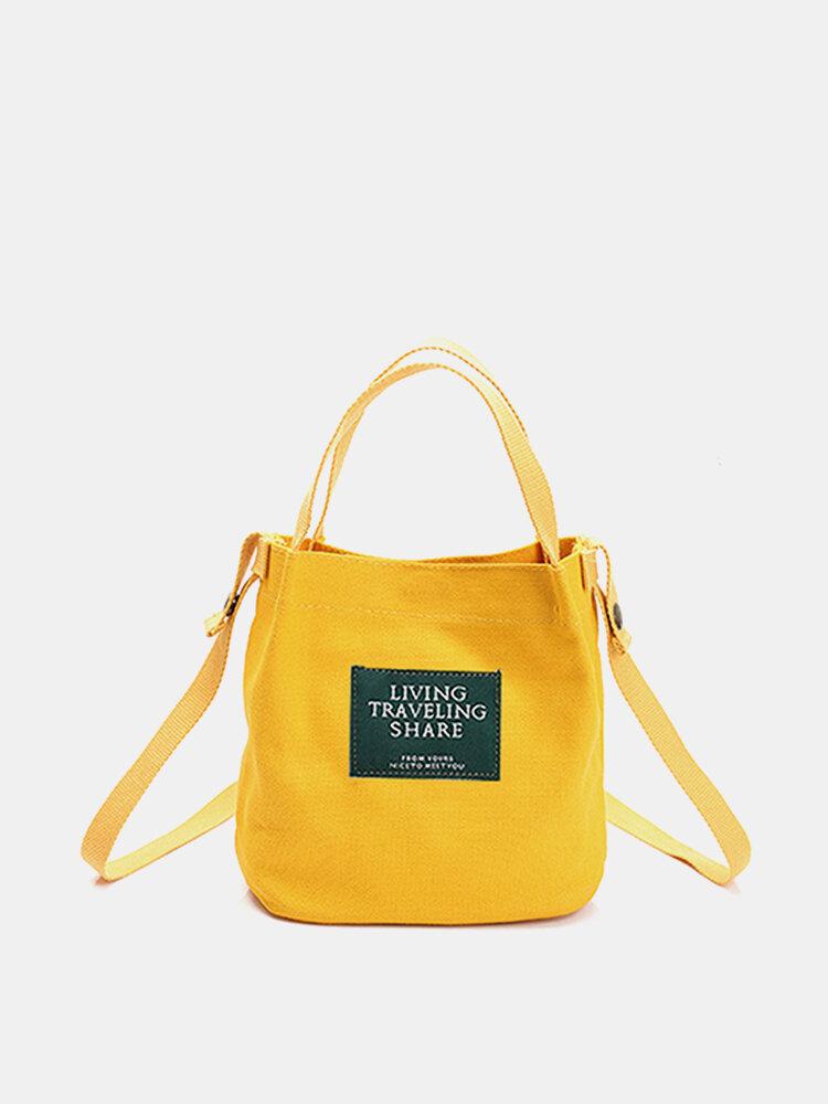 Women Canvas Bag Summer Must-have Lightweight Handbag Crossbody Bag