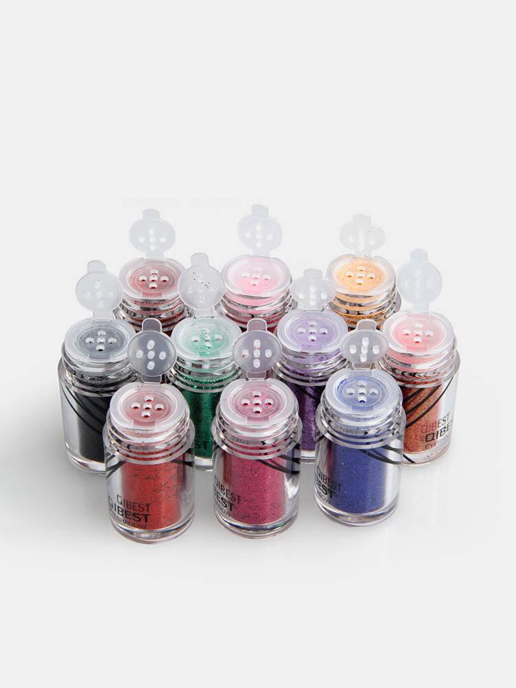 20 Colors Glitter Eyeshadow Powder Eye Glue  Long-Lasting Eye Shadow Powder Set Eye Cosmetic