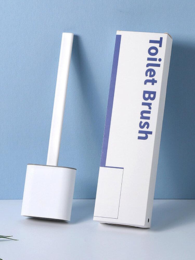 Revolucionário Silicone Sanita flexível Escova com lavador de suporte Escovas Sanitária Banheiro fixada na parede Escova