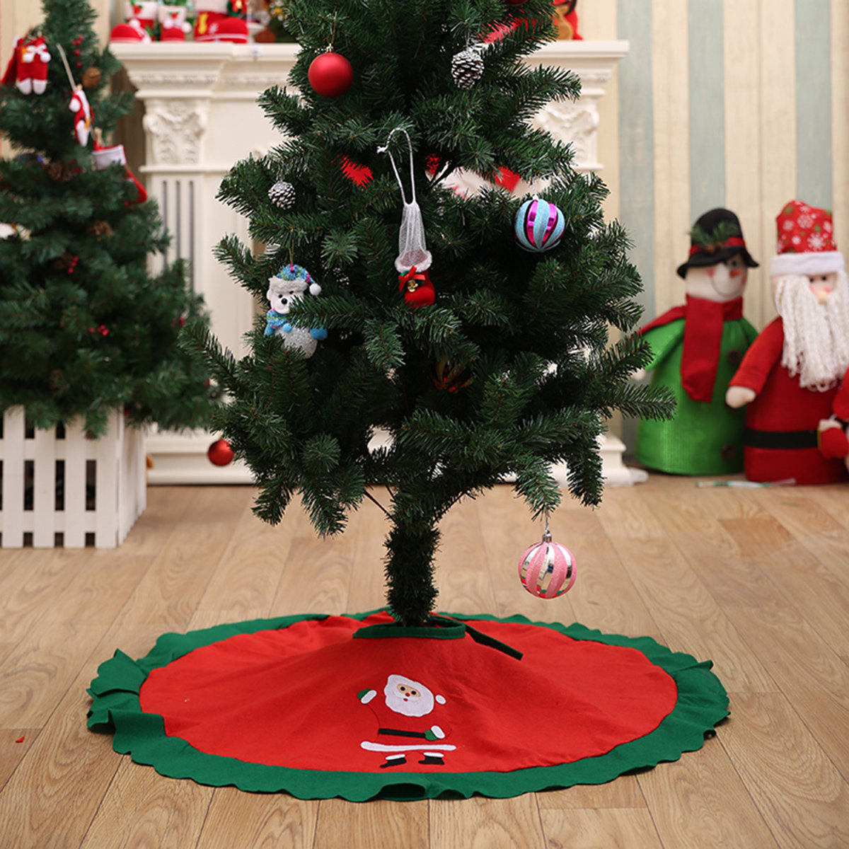 Hot-sale designer Christmas Decorations Tree Skirt Christmas Tress Apron Fabric Christmas Gift Online - NewChic