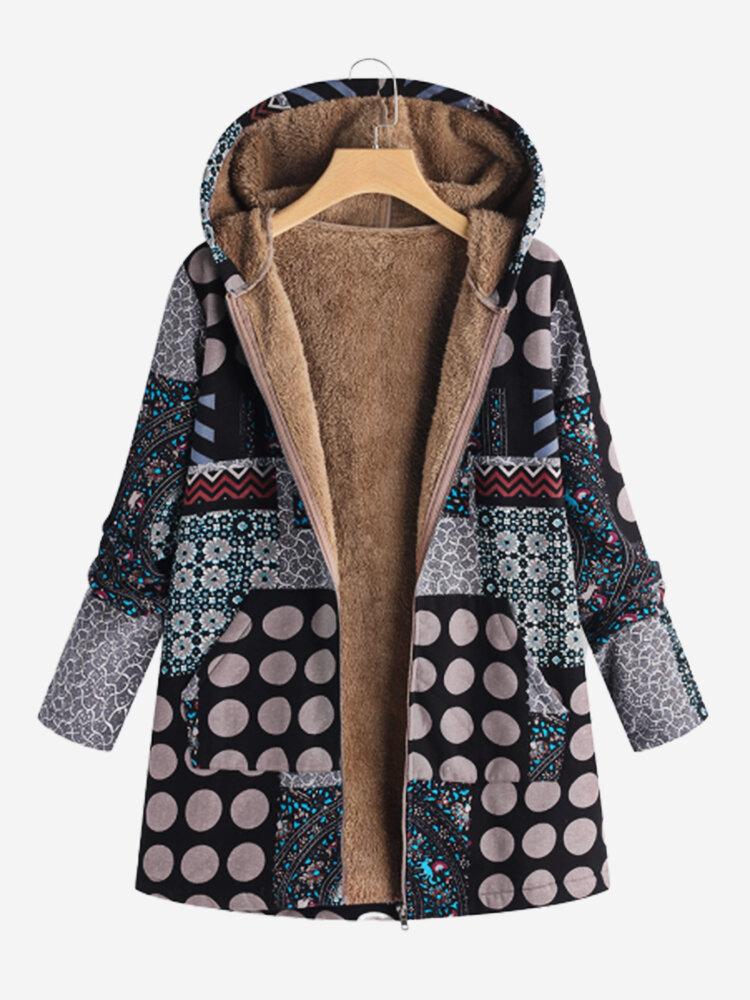 fornire un sacco di il prezzo rimane stabile goditi la spedizione gratuita Cappotto con cappuccio con patchwork vintage