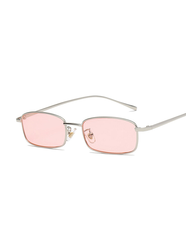 Womens Vogue Casual Square Lens Transparent Outdoor Vacation Polarized Sunglasses INS Popular Chic