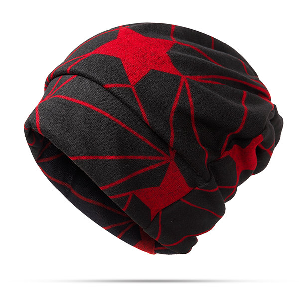 Autumn Winter Hat For Men And Women Five Star Hat Scarf Dual Use Windproof Cap Beanie Hat