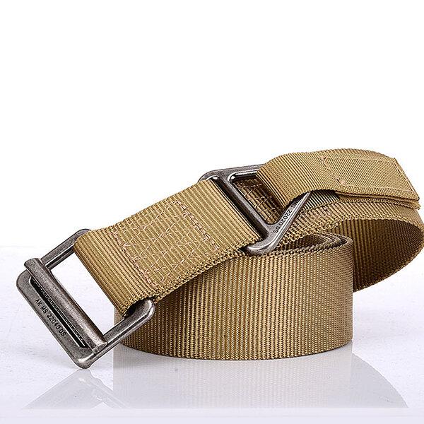 Men 135cm Durable Nylon Tactical Belts Easy To Pin Buckle Design Breathable Adjustable Belts