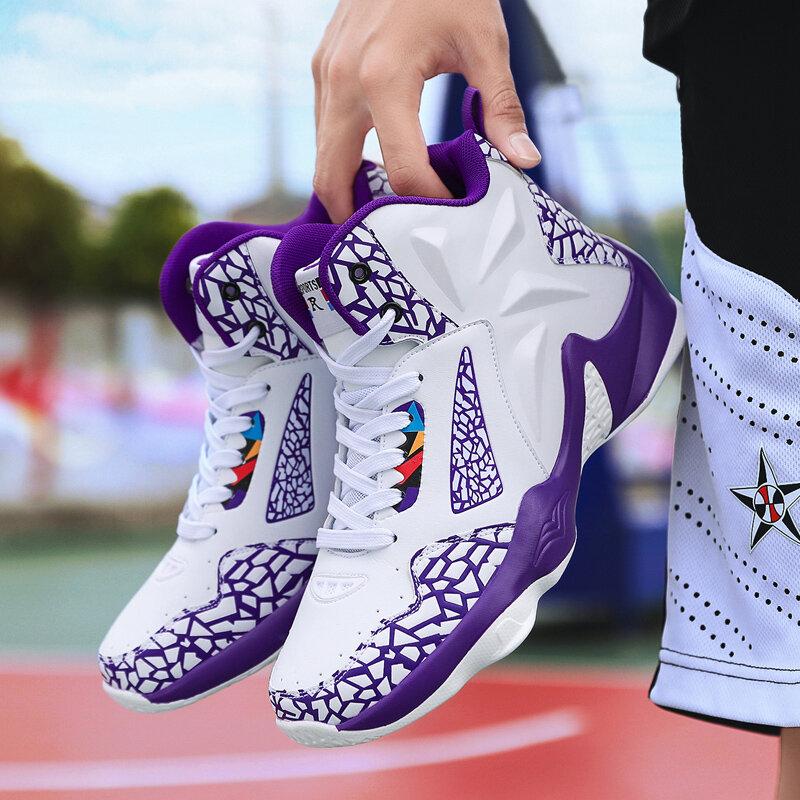 Men Colorblock Comfy Slip Resistant Breathable Basketball Sneakers
