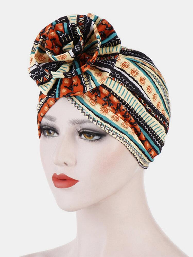 Women's Headscarf Hat Beanie Suit Flower Hooded Hat