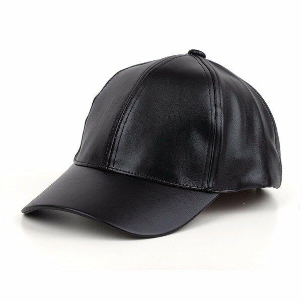 Men Women Soft Leather Baseball Cap Biker Trucker Adjustable Outdoor Sports Hats
