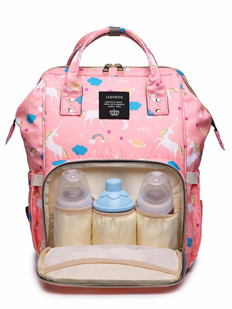Unicorn Mummy Bag Backpack Large-capacity Fashion Baby Bag Out Bag