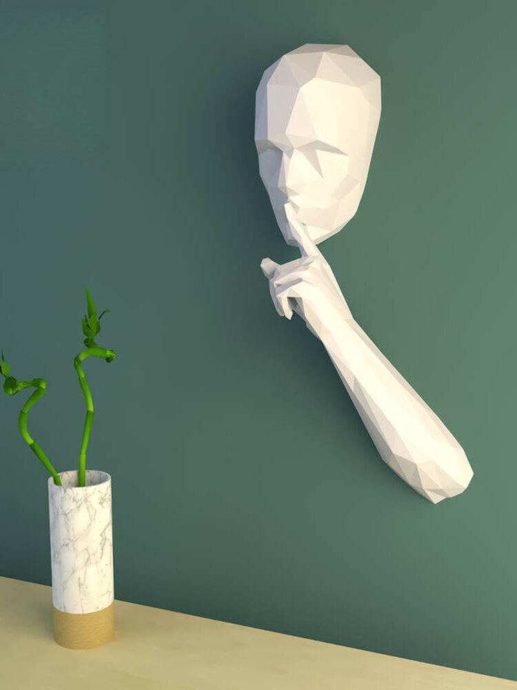 手作りDIYサイレントパーソン3Dペーパーモデル家の装飾リビングルームオフィスの装飾DIYペーパークラフトモデルパズル教育キッズおもちゃギフト