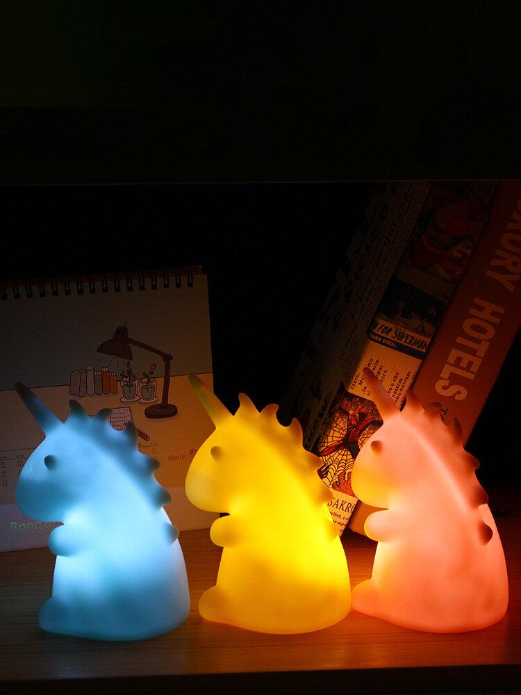 Lovely Unicorn LED Table Night Light Bedroom Home Decor Children Cute Bedside Lamp
