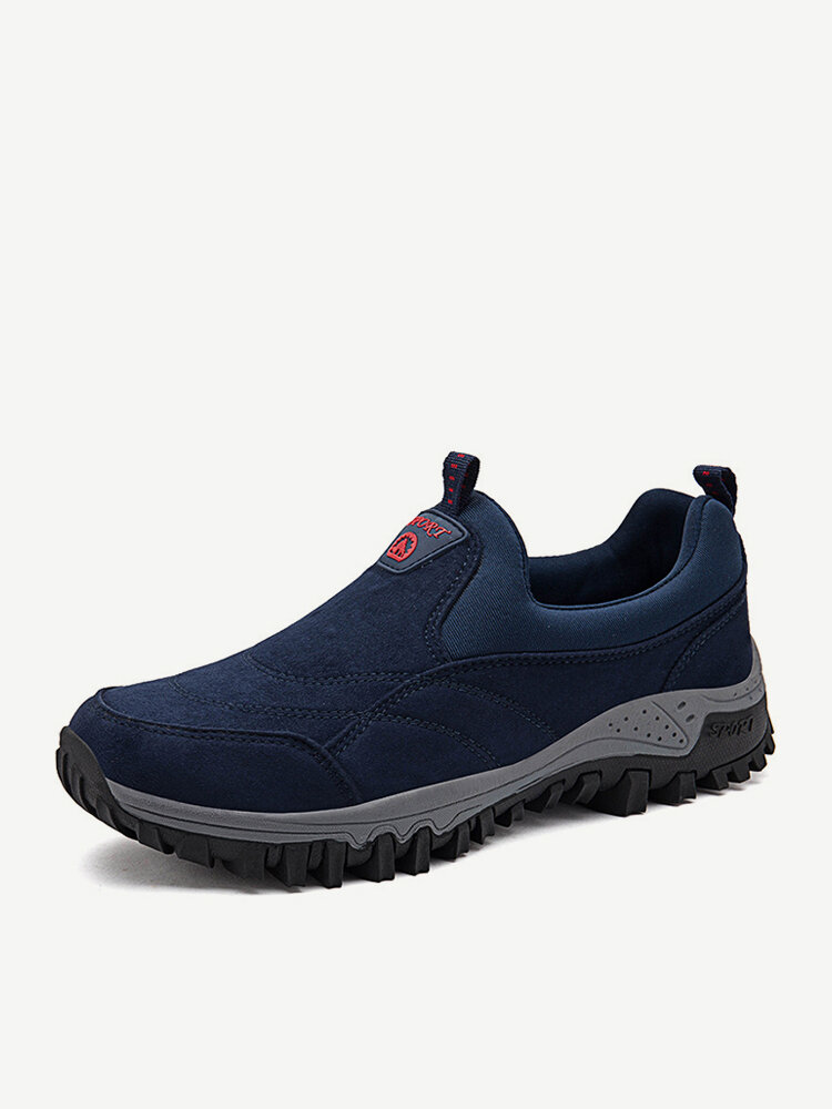 Men Suede Non Slip Outdoor Soft Sole Casual Hiking Sneakers