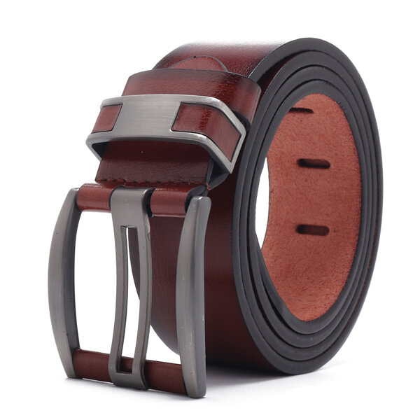 108CM Business Alloy Buckle Leather Belt Plain Adjustable Synthetic Leather Belt For Men