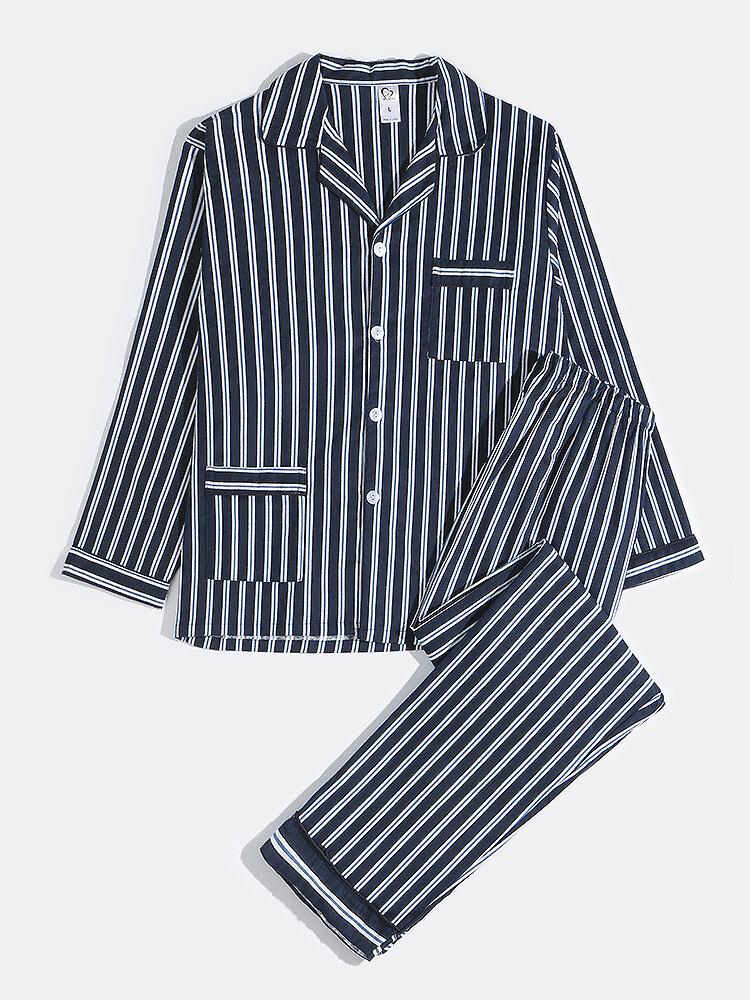 メンズ居心地の良い印刷パジャマ2枚ホーム通気性ラウンジセットSleepwewar