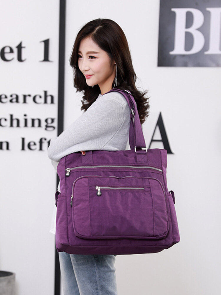 Fashion Casual Women's Handbag 2019 New One-Shoulder Ladies Nylon Light Luggage Bag Handbag