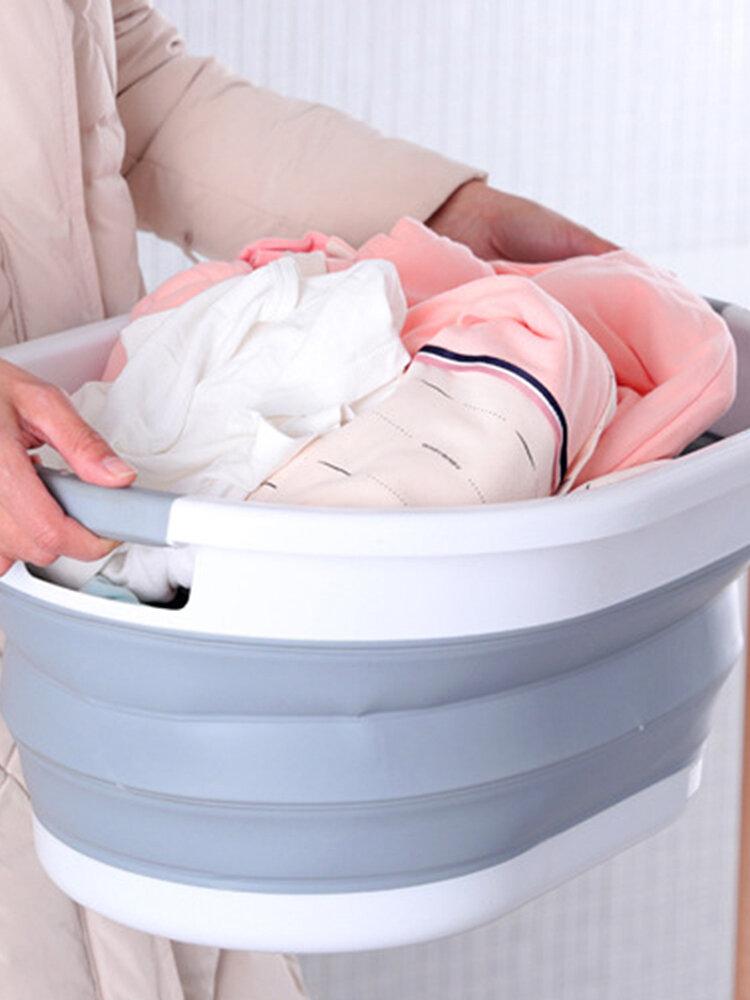 سلة الغسيل القابلة للطي سلة تخزين الملابس المنزلية الحمام سلة غسيل قابلة للطي