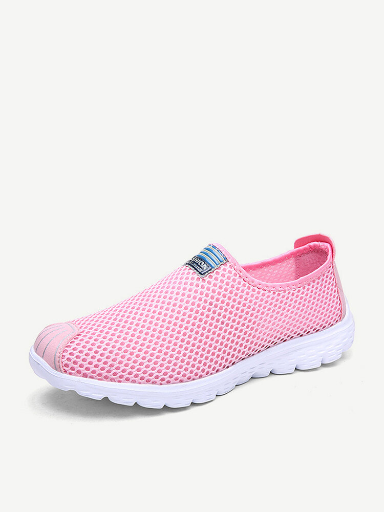Breathable Mesh Soft Slip On Athletic Causal Shoes For Women