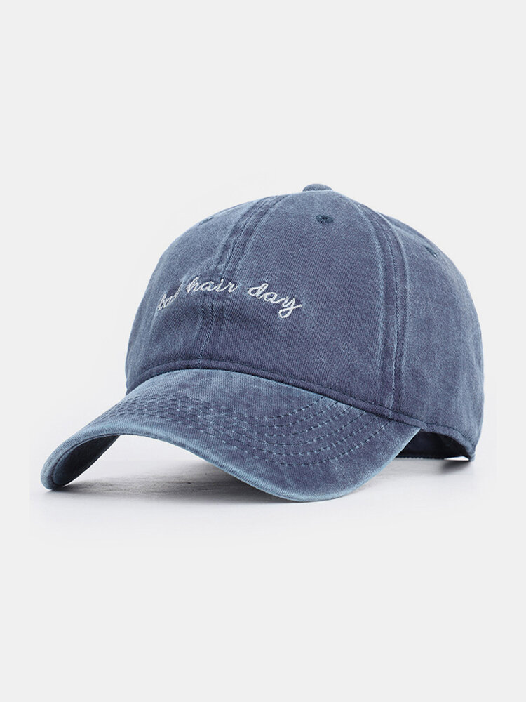 Men Cotton Made-old Letter Embroidery Sunshade Outdoor Casual Baseball Hat