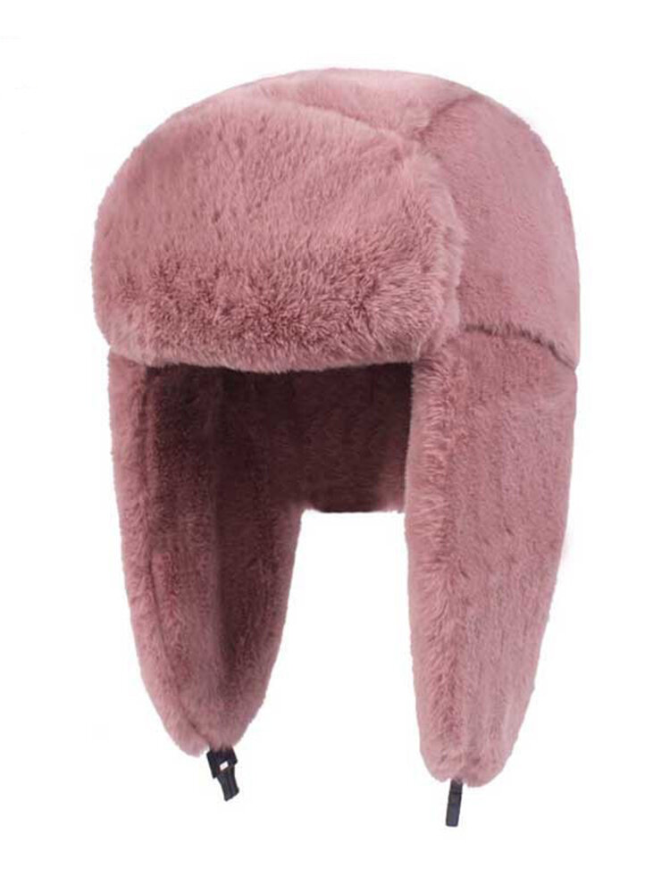 Women Earmuffs Plush Lei Feng Hat Winter Outdoor Ski Windproof Cap Warm Thick Hat