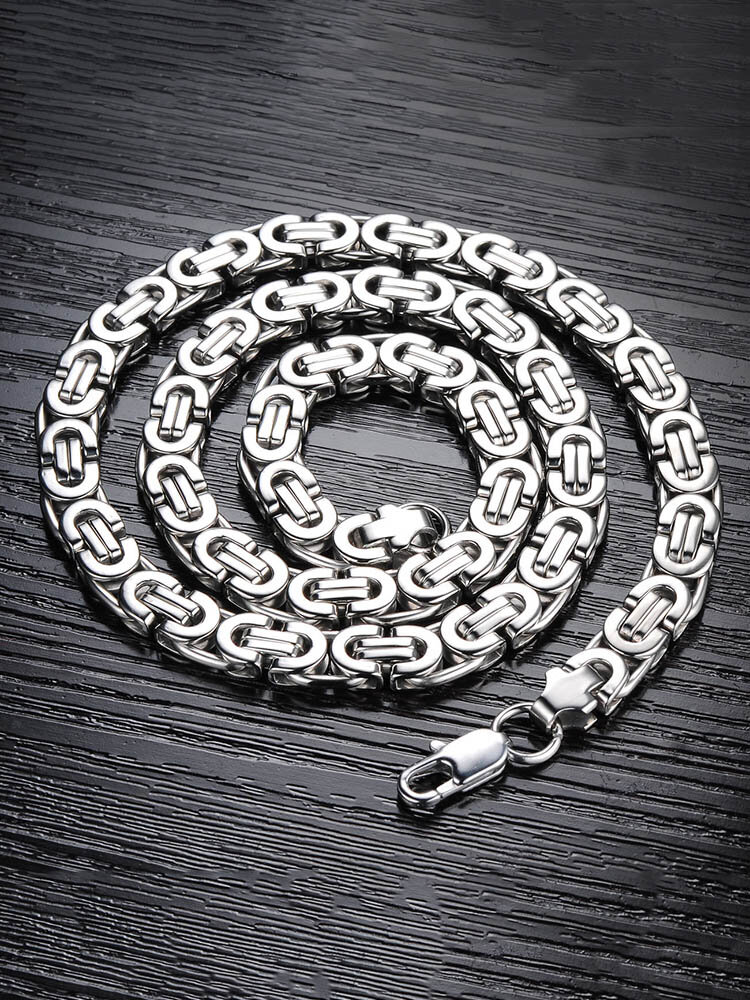 Vintage Stainless Steel Clavicle Chain Necklaces