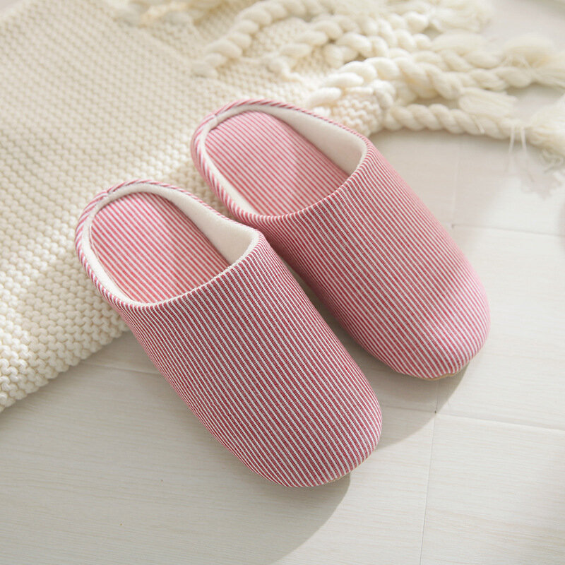 Women House Splicing Upper Solid Color Flats Home Slippers