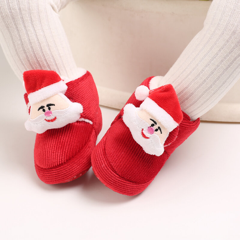 Baby Toddler Shoes Cute Cartoon Character Decor Warm Soft Snow Boots
