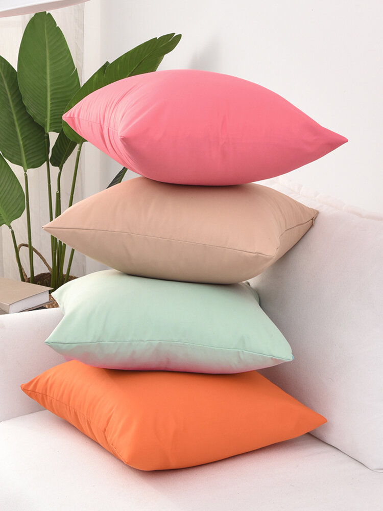 1PC Waterproof Solid Color Pillowcase Home Decor Sofa Living Room Car Throw Cushion Cover