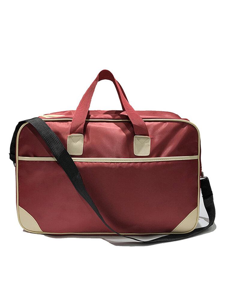Large-capacity  Waterproof Travel Bag Luggage Folding Handbag Shoulder Bag Storage Containers