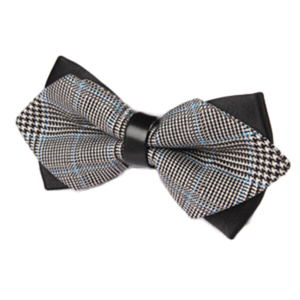 Men British Style Stripes Bowknot Wedding Soild Color Groom Bow Tie