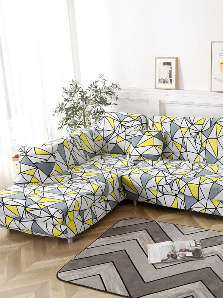 غطاء أريكة مطاطي من KCASA غطاء كرسي بذراعين لغرفة المعيشة 1/2/3/4 أغطية كرسي المقعد المنزل