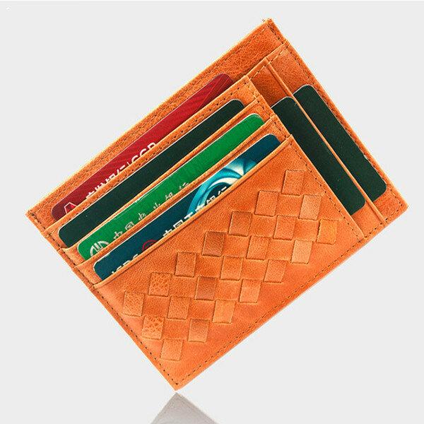 RFID Antimagnetic 12 Card Slots Genuine Leather Card Holder Wallet For Men