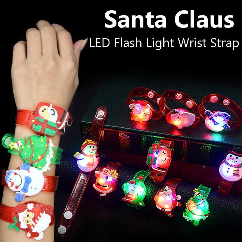 Santa Claus Rings Snowman Flap Lap Christmas Wristband Wrist Strap Decorative Christmas Gifts