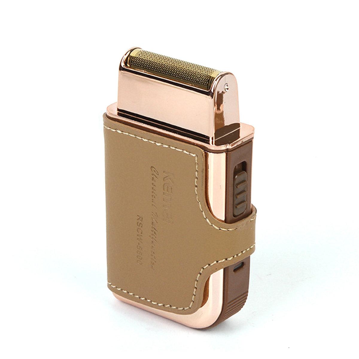 Mini Electric Men's Razor Portable USB Rechargeable Shaver With Mirror