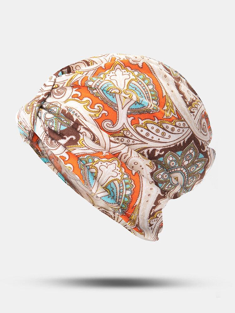 المرأة القطن الأزهار ورقة نمط مطبوعة تو كاب قبعة قبعة إسلامية