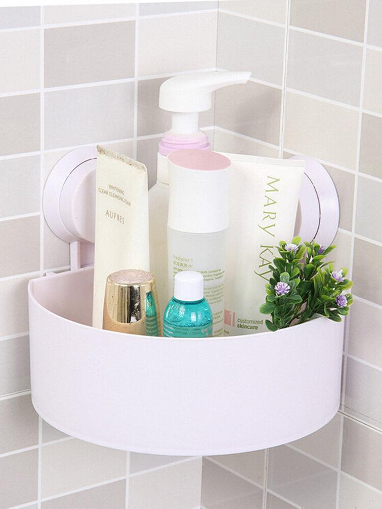 Étagère de salle de bain à ventouse triangulaire à suspendre au mur de salle de bain