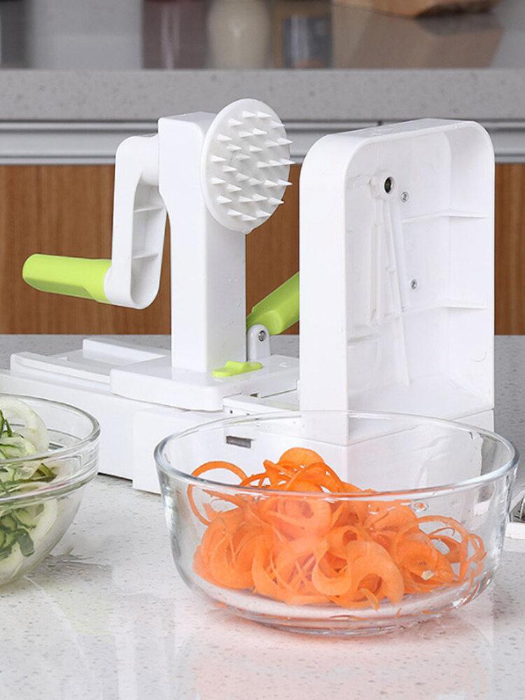 متعددة الوظائف الخضار الفاكهة المروحية دوران اليد سلطة آلة التقطيع عشاء لأداة المطبخ