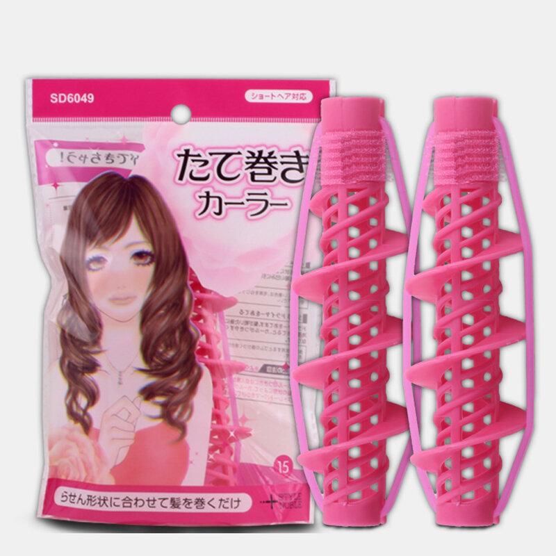 2 قطع أدوات تصفيف الشعر العناية بالشعر الطبيعي موجة كبيرة الضفائر بكرات بكرو الشباك أداة تصفيف للبنات السيدات لولبية بكرة