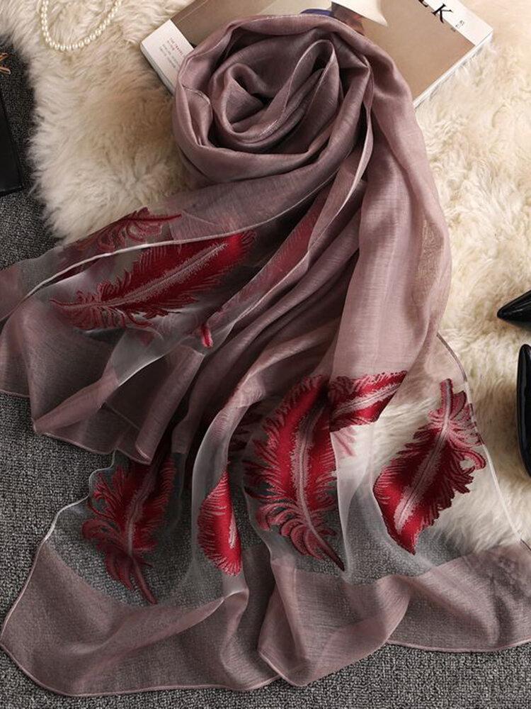 女性ヴォーグボイル通気性夏薄いビーチスカーフ180 * 70 cm特大ショール