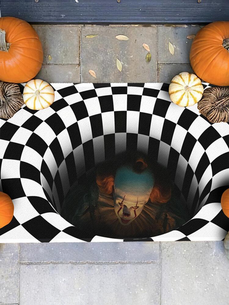 Es Joker Pennywise 3D ilusión felpudo aterrador payaso decoración de Halloween alfombra mejor regalo para Halloween
