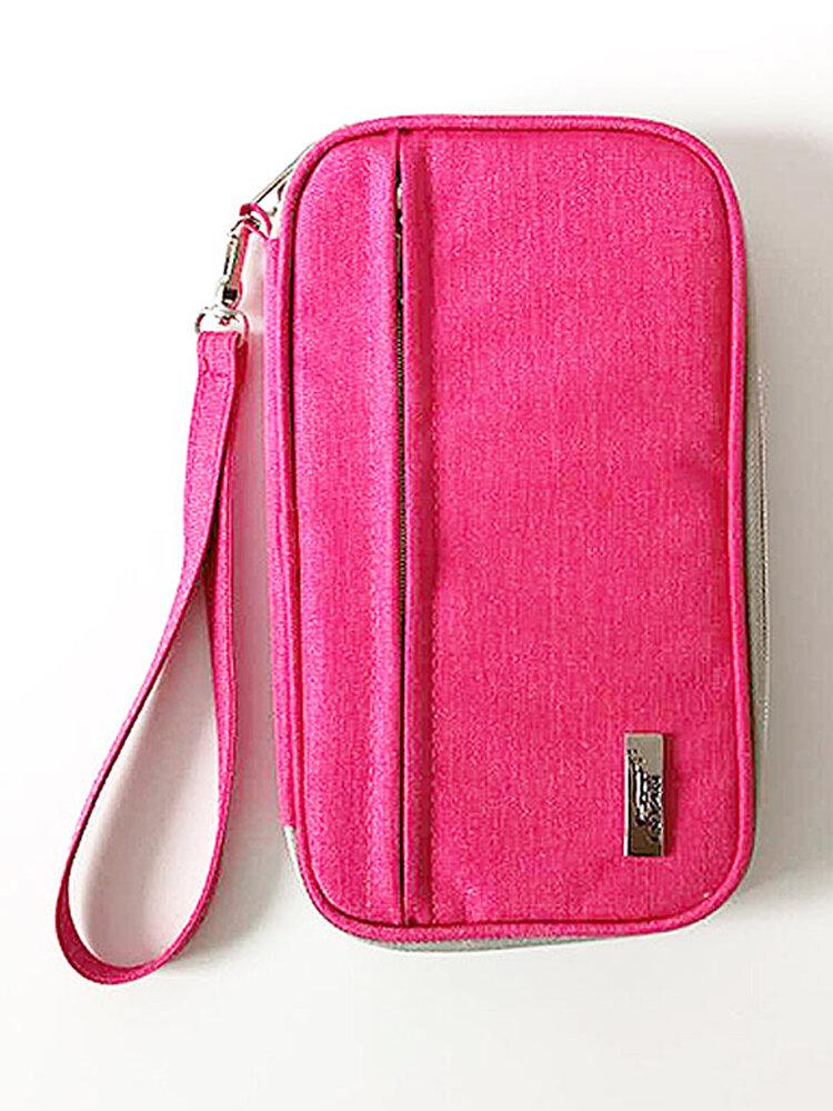 Multi-function Travel Passport Storage Bag Hanging Neck Portable Ticket Certificate Bag Card Wallet