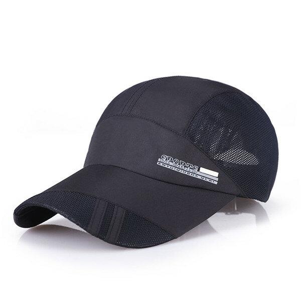 Casual Men's Thin Breathable Quick Dry Outdoor Sunshade Mesh Baseball Cap