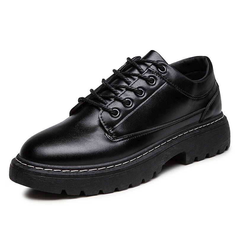Men British Style Comfy Wearable Black Platform Business Casual Shoes