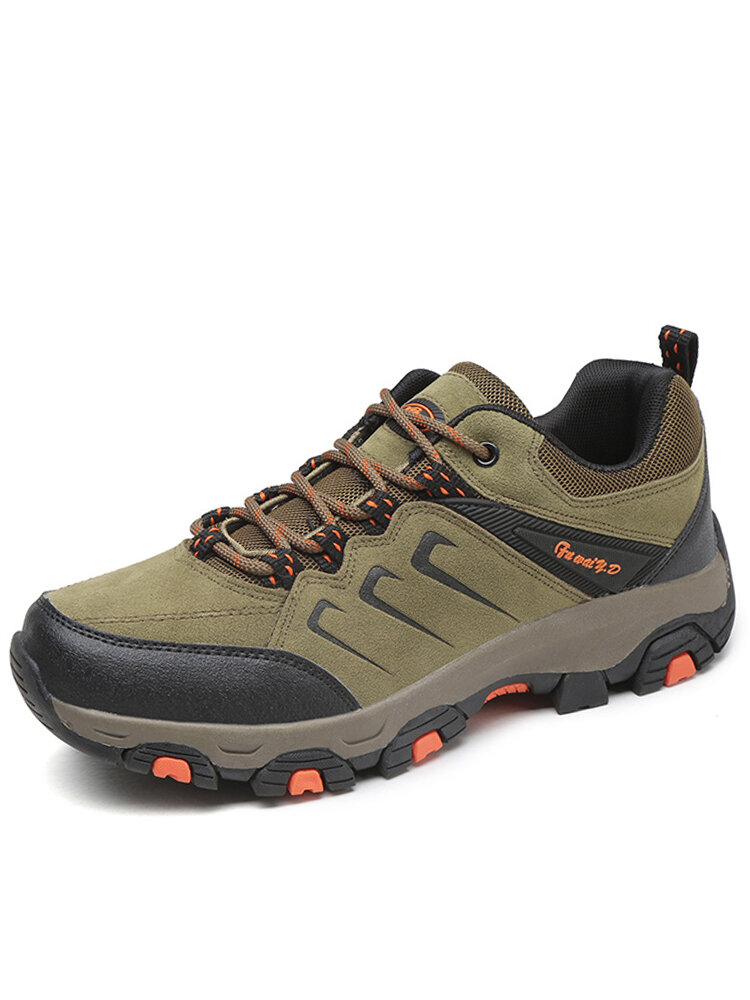 Men Outdoor Wear Resistant Sport Casual Climbing Hiking Shoes